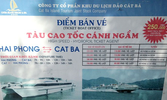 Tổng hợp những phương tiện đi đảo Cát Bà - Giá vé - Lịch trình